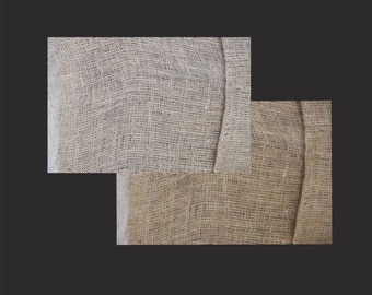 Digital Photo Download, Two Real Photographic Burlap Texture Pattern Background Stock Photo Images