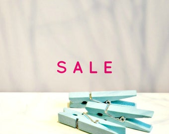 Pastel Blue Pegs {5} | Blue Pegs | Medium Wood Pegs | Baby Shower | Easter Gift Wrap SALE