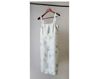 1990s Ann Taylor Silk Floral Camisole Dress