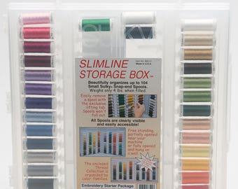 Sulky Rayon Embroidery Thread Kit - 29 spools 250yd/225m  each in storage box
