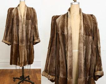 SALE 1940s Fur COAT Winter Jacket