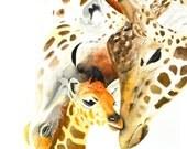 Giraffe #5 Art Print Wate...