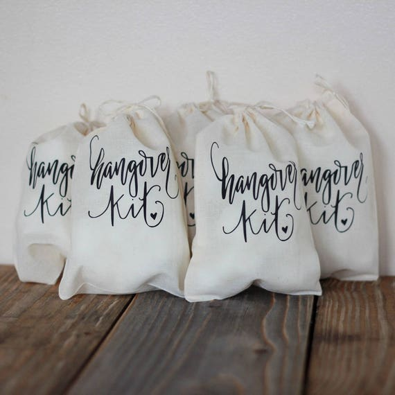 Bachelorette Party Hangover Kit Survival Kit Wedding Drawstring Bag Hotel Guest Party Favor