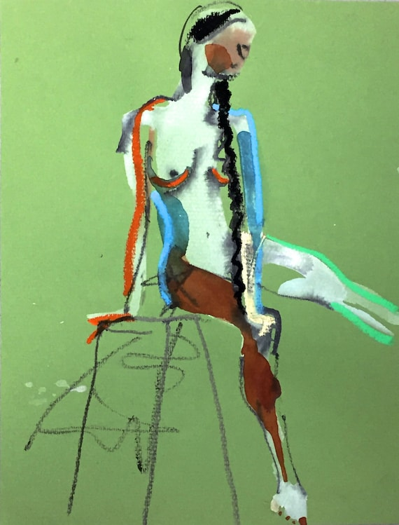 Nude painting#1384  Original painting by Gretchen Kelly