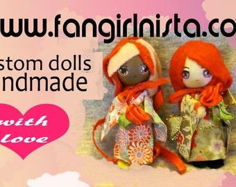 Custom OOAK Doll Pendant