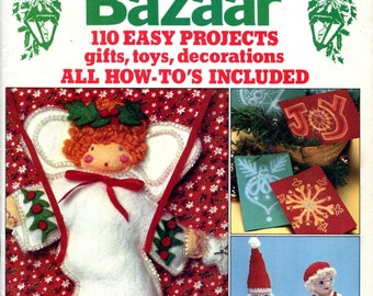 McCalls Christmas Bazaar Pattern and Craft Book Felt Pixie Dolls Ornaments Gnomes Angels Crochet Dolls Stockings Decorations Sewing Patterns