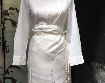 Ann Demeulemeester cross coupades over breast blouse
