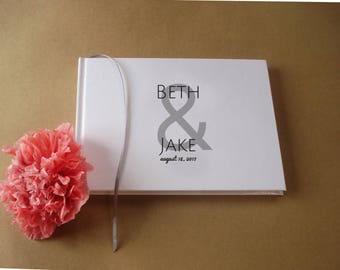 DIY Wedding Guest Book · Custom Wedding Guest Book with your monogram, your design, your logo. Create Your Own Guest Book, DIY Guest Book