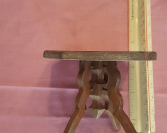 Vintage Antique Reproduction Library Side Table Victorian Hand Made Miniature Display