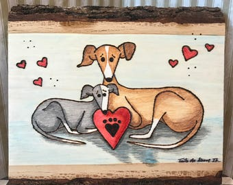 Pure Love - Original Wood Burning Art by Tails Me About It