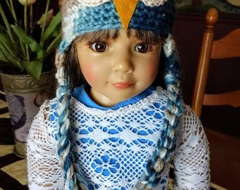 Crocheted Owl Hat for Kidz 'n' Cats Dolls