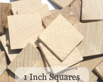 Unfinished Wooden Squares 1 inch, Pack of 50