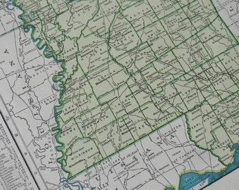 1947 State Map Mississippi - Vintage Antique Map Great for Framing
