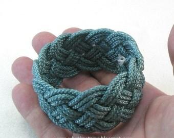 teal rope bracelet nylon cord bracelet turks head knot arm band sailor bracelet rope jewelry nylon cord rope bracelet 3642