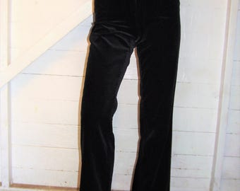 Guess Jeans Black Velvet Pants 24 waist XS
