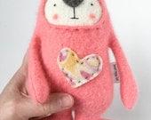 Small Stuffed Animal Bear Upcycled Repurposed Sweater