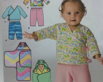 Baby Blanket Wrap Pattern Simplicity 3941 Babies Top Pants and Blanket Wrap fits up to 13lb 24inch baby