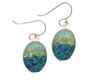 Mosaic Earrings - Apatite and Peridot