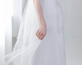 Two Tier Veil | Wedding Veil | Veil with Blusher | 2 Layer Veil | Long Veil | Bridal Veil | Simple Veil | Fingertip Veil [Gwyneth Veil]