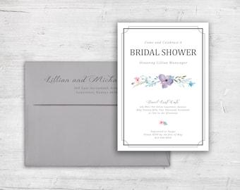Springtime Floral Design Bridal Shower Invitation