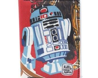 Passport wallet (small) - R2-D2 Star Wars vintage fabric