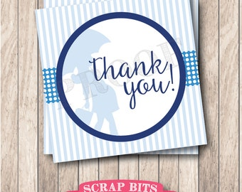 Instant Download . Printable Baby Shower Thank You Tags . Printable Boy Baby Shower Tags