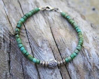Turquoise bracelet, Blue Boho Bracelet, Turquoise Jewelry, Southwestern Bracelet, Sundance Style Jewelry