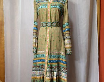 Georgio Sant Angelo Boho Dress Native American Inspired