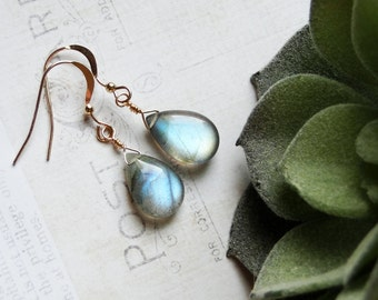 RESERVED LISTING - Labradorite and 14k Gold Fill Earrings