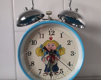 Vintage Cabbage Patch Kids Wind Up Twin Bell Alarm Clock Circa 1983