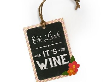 Oh Look... It's Wine - Paper-Pieced Wine Tag