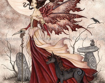 5x7 The Red Queen fairy PRINT by Amy Brown