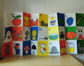 vintage dick bruna alphabet poster / pages