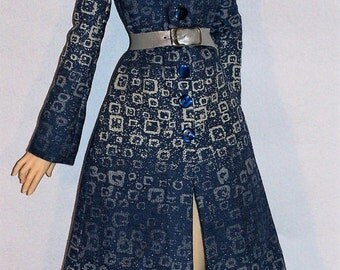 Bleu Argent* Denim Coat for BDJ Iplehouse Doll, nYID, by l'Atelier de Rosy