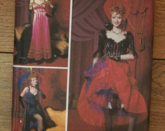 2001 Simplicity pattern 9899 /  0662  Misses showgirl/ saloon/ can-can dancer Costumes sz 6-8-10-12 uncut