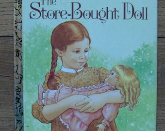 vintage 1983  little golden book The Store Bought Doll children picture book