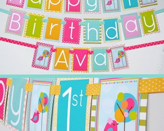 Bird Birthday Party Decorations | It's Tweet to be One | Fully Assembled Decorations | Birdie Party | Bird Banner | Tweet To Be One | Birdie