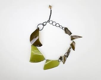 BROKEN GLASS // rare 80s broken glass necklace