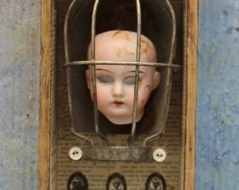 "Assemblage Art Mixed Media Found Object Shrine Shadow Box ""Treasure the  Memories"""