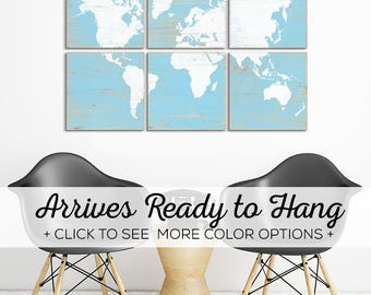 Browse our Colorful World Maps for Sale in Over 25 Color Options - Perfect Map for Office Decor