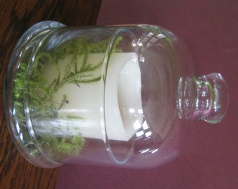 Votive Candle Glass Bell Jar Candle LED Candle Rustic Centerpeice Wedding Decoration