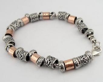 925 Silver Bracelet, Rose Gold Filled Bracelet, Israel Art 14k GF Silver Bracelet, Gold Bracelet, Free shipping, Gift for her, Birthday