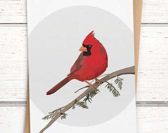 Northern Cardinal bird cards. Bird greeting card. Cardinal greeting card. Blank bird cards. Cardinal cards. Beautiful bird greeting cards.