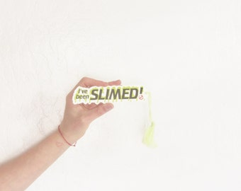 Ive been SLIMED ghostbusters bookmark . 1984 I aint afraid of no ghosts .sale s a l e