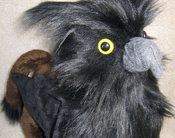 Shadow - Handmade Custom Gryphon Plush