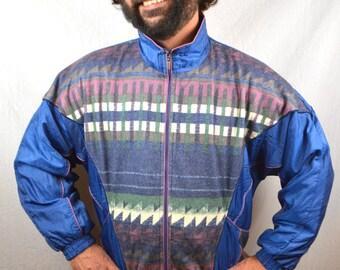 Vintage 90s Soutwest Flannel Windbreaker Jacket Coat