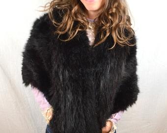 Vintage 1950s Fur Stole Pelt Wrap