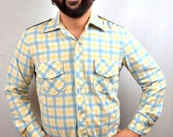 Vintage 70s Towncraft JC Penney's Button Up Plaid Shirt