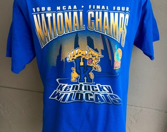 Kentucky Wildcats 1996 NCAA Basketball Champions vintage t-shirt - blue size extra large