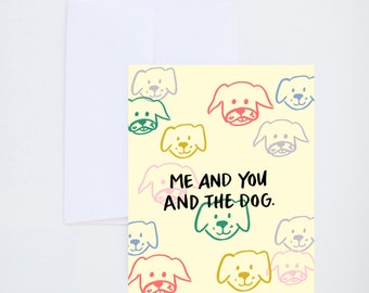 Love & Friendship -  You and Me and The Dog - Single Card A-2